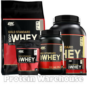37860812b Optimum Nutrition Gold Standard 100% Whey Protein ON 6 Serv 2lb 10lb ...