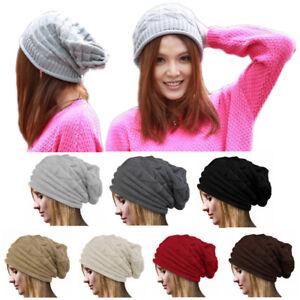 963c8b71ca5 New Women Men s Winter Warm Oversize Baggy Ski Skull Beanie Hat Knit ...