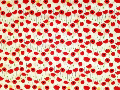 Jour Du Souvenir Coquelicots-coton imprimé tissu