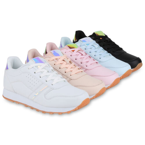 Damen Sportschuhe Lack Laufschuhe Fitness Sneaker Metallic 822496 Schuhe