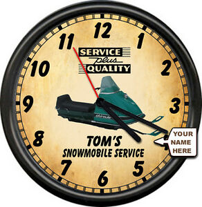 Personalized-Snowmobile-Racing-Skiroule-Retro-Vintage-Service-Sign-Wall-Clock