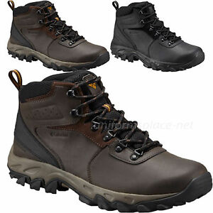 cf9872bec75 Details about Columbia Shoes Mens Newton Ridge Plus II Waterproof Leather  Hiker Boots BM3970