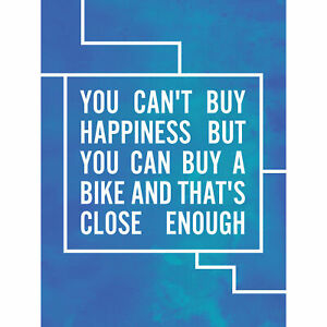 Happiness-Buy-A-Bike-Large-Wall-Art-Print-18X24-In