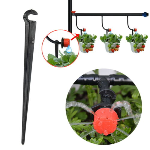 50PCS Irrigation Stake Hold Down Spike Supports Supporting Stake For 4~7mm Hose