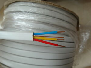 Details about 1.5mm 3C+E Cable Old Wiring Colours Red Yellow Blue 6243B on