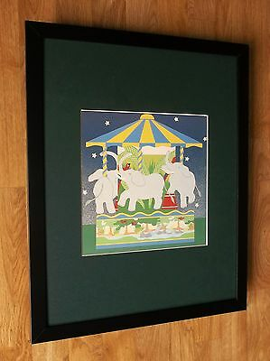 Childrens wall art, Cathi Whiting, 20''x16'' frame, Carousel prints, nursery art