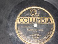 "Prince's Band on 78 rpm Columbia A1025 ""NATIONAL EMBLEM MARCH"" ""WASHINGTON GRAYS"