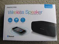 Memorex Mw212 Universal Wireless Bluetooth Speaker For Iphone Ipod Ipad, Mp3