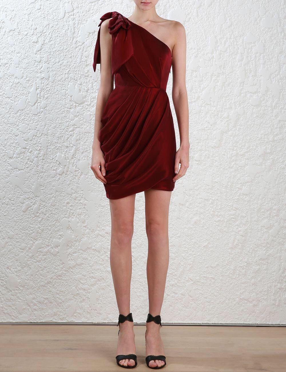 BNWT Zimmermann arco Corpiño Vestido Borgoña Talla 0    550  Envío y cambio gratis.