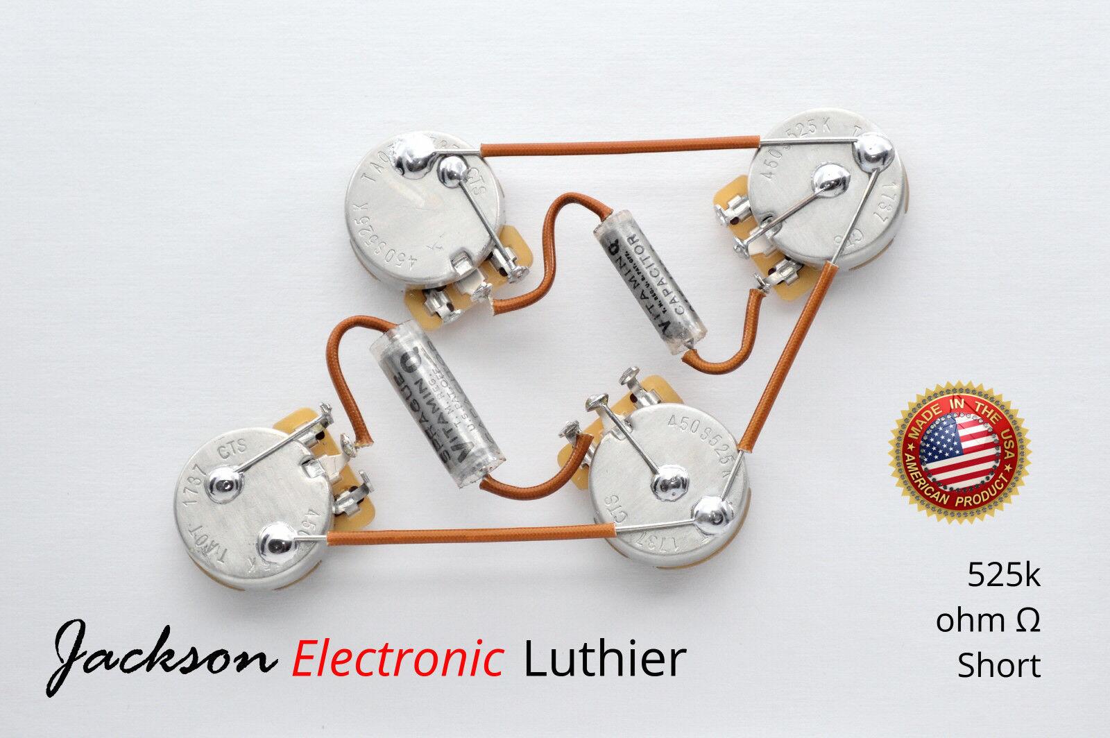 Les Les Les Paul Wiring Harness Spraque Vitamin Q PIO .0.015 uF N/.022 uF Brg CTS 525k 393142