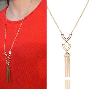 Practice-Retro-Long-Necklace-Gold-Sweater-Chain-Geometric-Metal-Tassel-Pendant