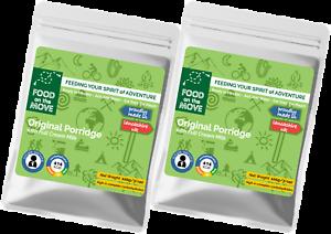 Outdoor /& Emergency Food Original Porridge Twin Pack Premium Quality Meal
