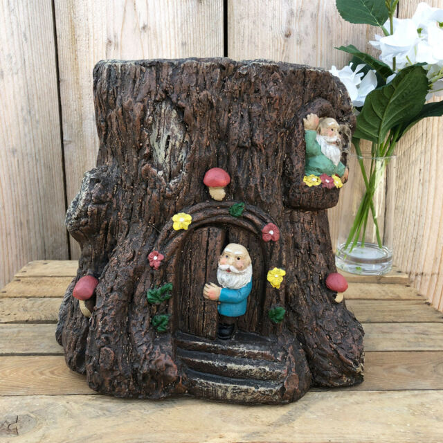 Magical Fairy House Tree Trunk Stump Herb Flower Planter Garden Plant  Bucket Pot