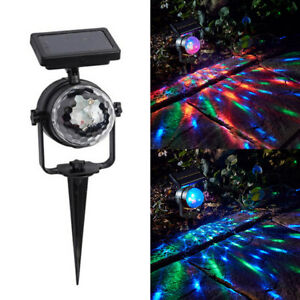 Solar-Rotating-LED-Projection-Garden-Lawn-Lamp-Outdoor-Bulb-Colorful-RGB-Light