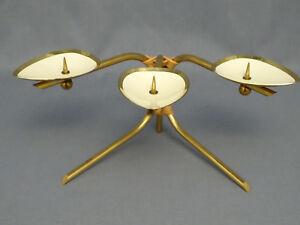 Dreiflammiger-Kerzenhalter-50er-Jahre