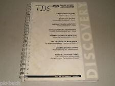 Einbauanleitung Nachrüstung Einbau Klimaanlage Klima Land Rover Discovery, 1998