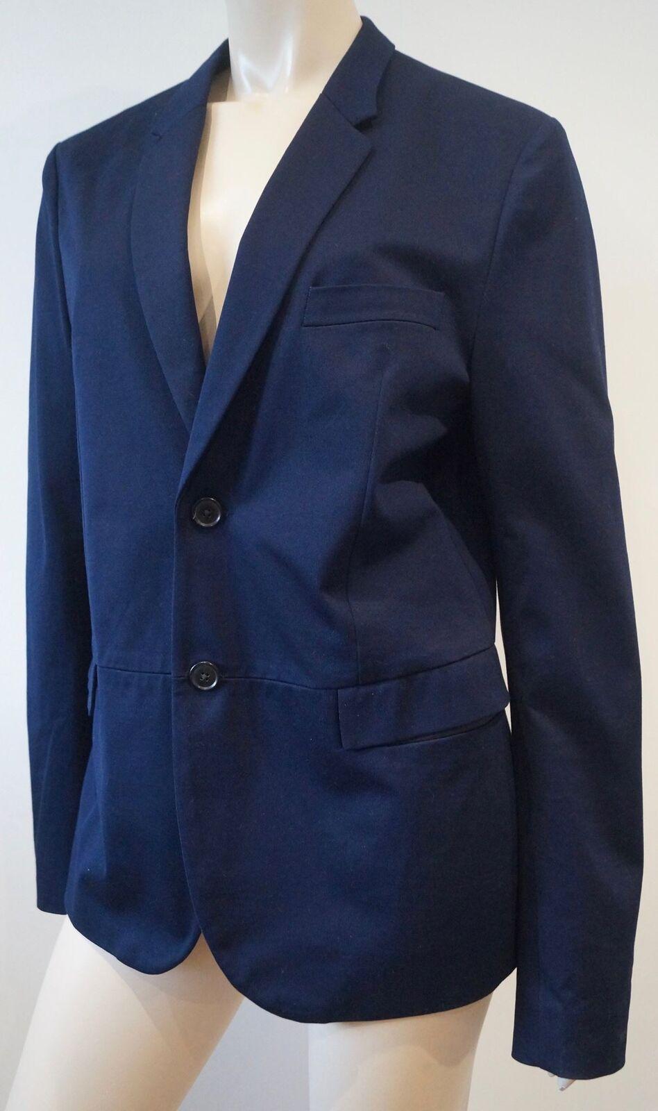 PAUL SMITH Menswear Navy Blau 100% Cotton Lightweight Summer Blazer Jacket L