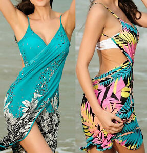3999526994 Women Bathing Suit Bikini Swimwear Sarong Wrap Pareo Cover Up Beach ...