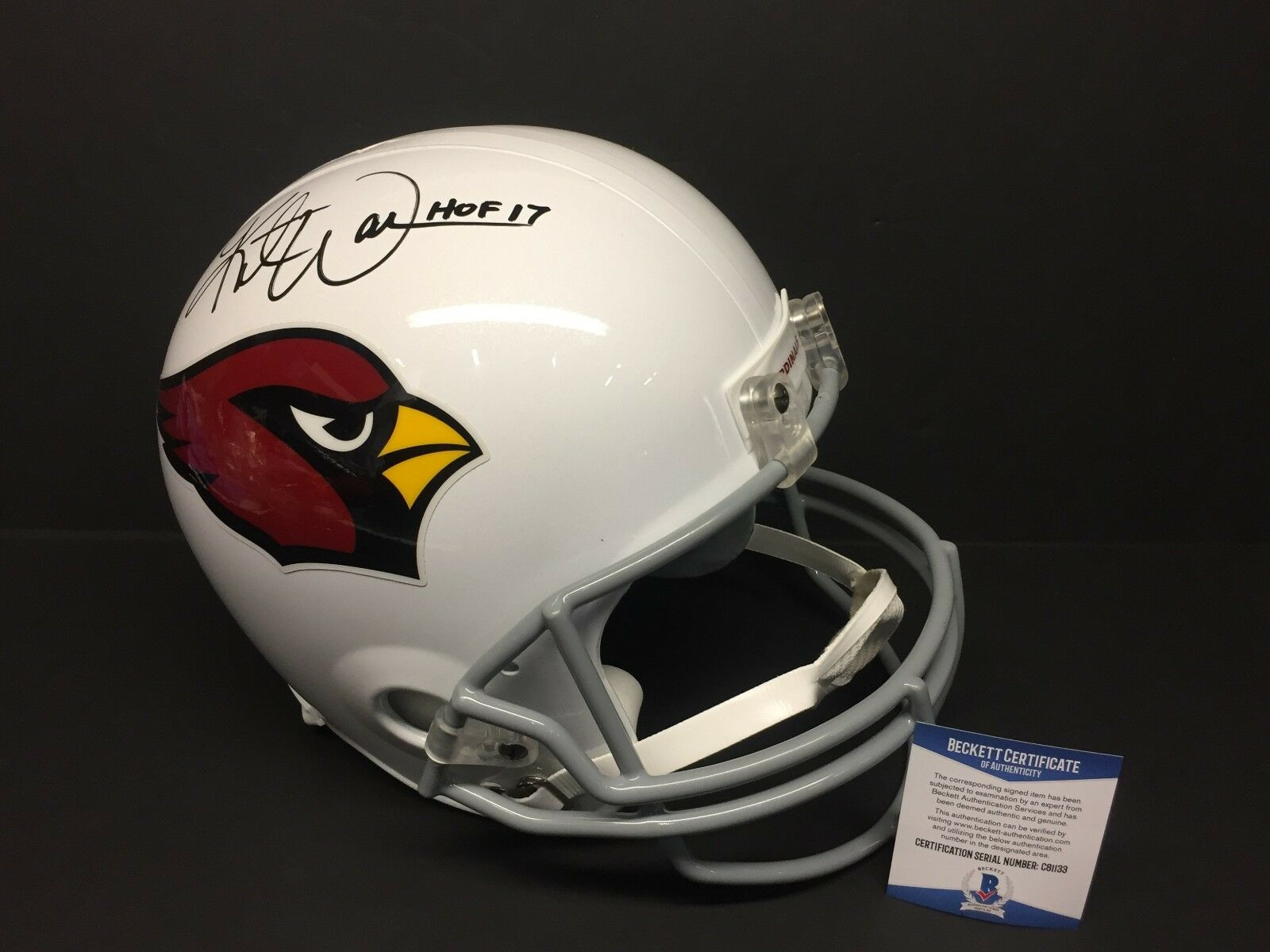 Kurt Warner Signed F/S Arizona Cardinals Football Helmet
