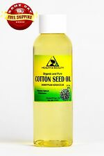 COTTON SEED OIL ORGANIC by H&B Oils Center CARRIER COLD PRESSED 100% PURE 2 OZ