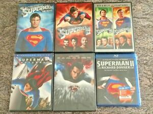Superman-7-Film-Collection-5-DVD-Lot-BONUS-Blu-ray-Superman-1-4-MORE-NEW