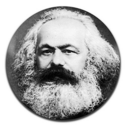 Karl Marx Marxism Communism 25mm 1 Inch D Pin Button Badge
