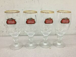Stella-Artois-50-CL-Gold-Rimmed-Chalice-Beer-Glasses-SET-OF-4-FOUR