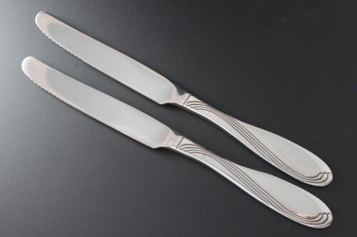 New French Solid Handle Knives Oneida Stainless Silverware CAMBER 2