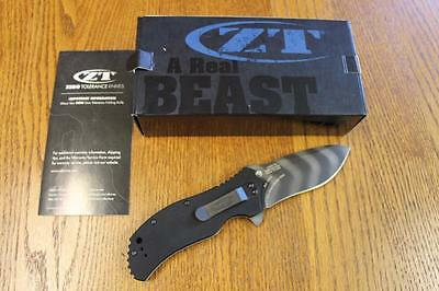 NEW KAI Zero Tolerance 0350TS A/O Folding Knife Tiger Stripe S30V G-10 ZT0350TS