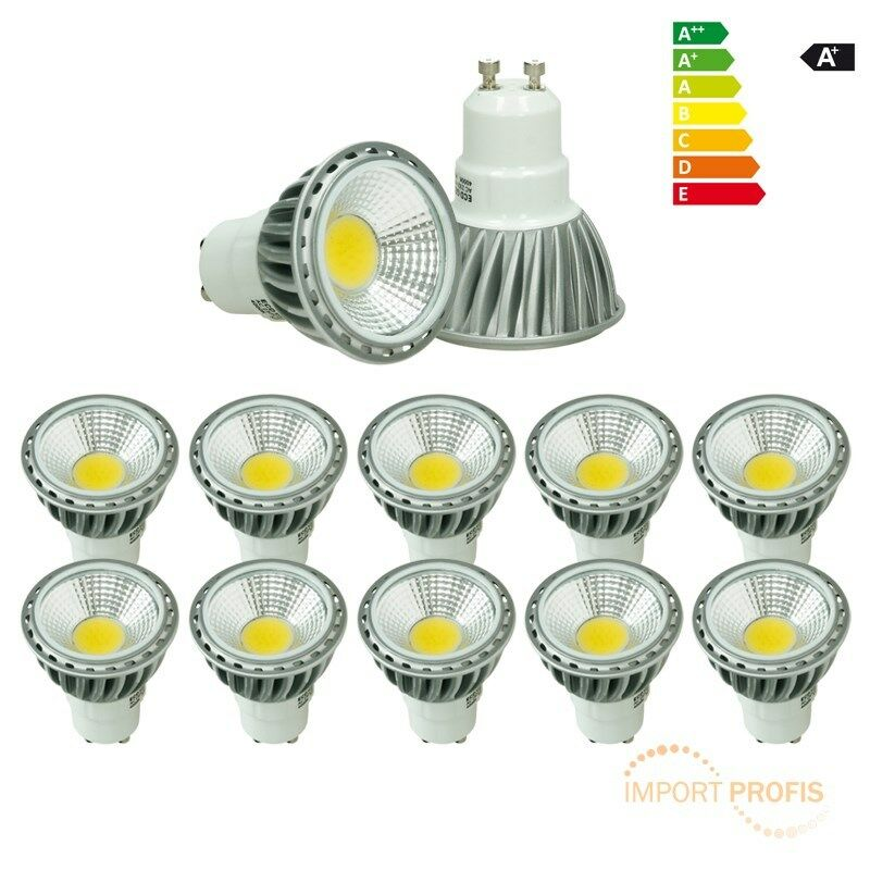 10 x 6W LED COB GU10 SPOT LAMPE BIRNE LEUCHTE DIMMBAR NEUTRALWEIß EINBAULEUCHTE