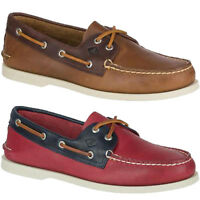 Mens Sperry Top-sider Authentic Original Ao A/o 2 Tone Sarape Leather Boat Shoes