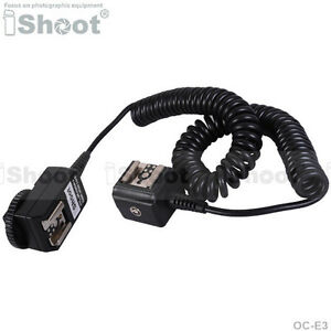2.5m Flash SYNC E-TTL Off-Camera Double-Hot-Shoe Cord Cable for Canon OC-E3