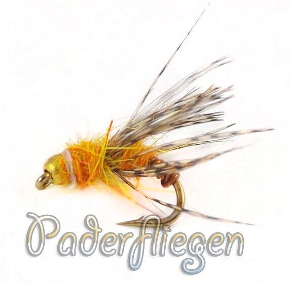 Paderfliegen Goldkopfnymphen Dream-Amber Goldkopfnymphe 3 Stk
