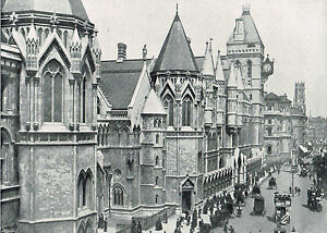 The-Law-Courts-London-Showing-Temple-Bar-amp-Fleet-Street-1896-Antique-Print-47