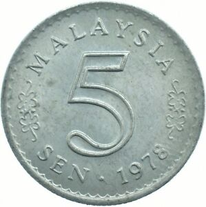 COIN / MALAYSIA / 5 SEN 1978 UNC MINT LUSTRE     #WT17883