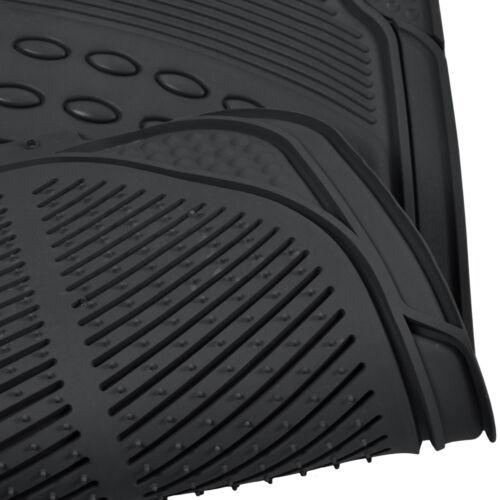 Black Winter Summer Combo Rubber Floor Mats /& Carpet Floor Mats 2 Full Sets