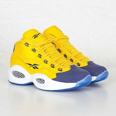 Reebok Question Allen Iverson All Star Yellow Blue Limited V72127 Retro Ice