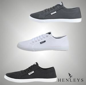 Mens-Henleys-Stylish-Casual-Lace-Up-Canvas-Shoes-Pumps-Sizes-UK-from-6-to-12