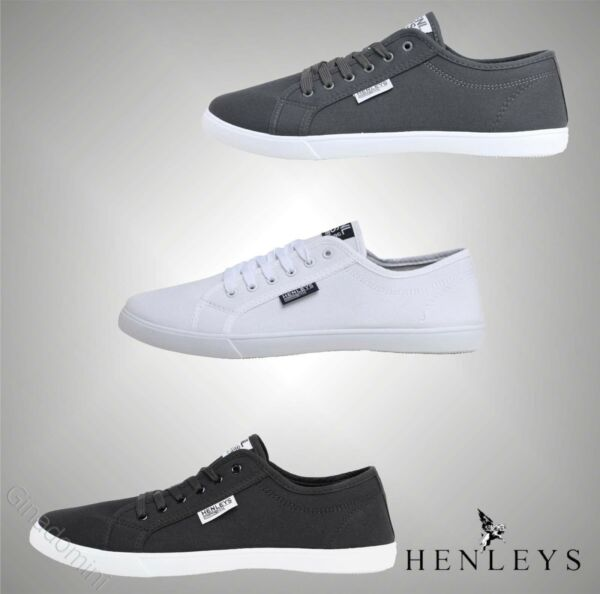 100% Verdadero Para Hombre Henleys Elegante Informal Encaje Hasta Bombas Zapatos De Lona Tallas Reino Unido De 6 A 12-ver Costo Moderado