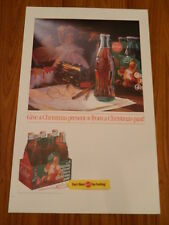 """1992 Coke """"Letters to Santa"""" National Promotion 18""""x28"""" Retail Display Poster"""
