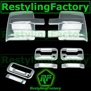 09-14-Ford-Chrome-Towing-Mirror-2-Door-Handle-no-keypad-keyhole-Tailgate-Cover