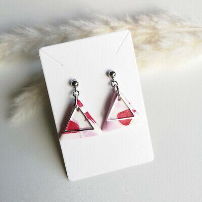 Abstract earrings Polymer clay earrings Circle earrings Geometric earrings Pink and gold Marble stud earrings Statement earrings