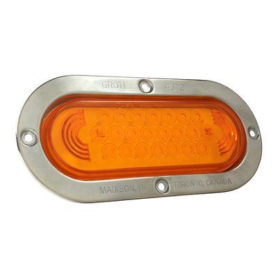 53963 + 92420 + 67005 Auxiliary, Grote 53123 Yellow SuperNova Oval LED Stop Tail Turn Light