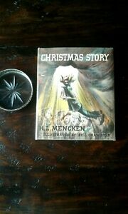 Christmas Story, 1st Edition in Rare 1st issue dj, NF/VG+, by H. L. Mencken