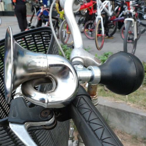 Bicycle Bike Cycling Metal Air Horn Hooter Squeeze Bell Speaker Bugle Trump A2V9