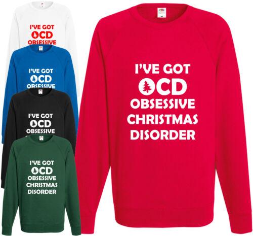 Mi hai ricevuto OCD ossessiva NATALE Disordine Felpa DIVERTENTE REGALO NATALE SCHERZO Maglione
