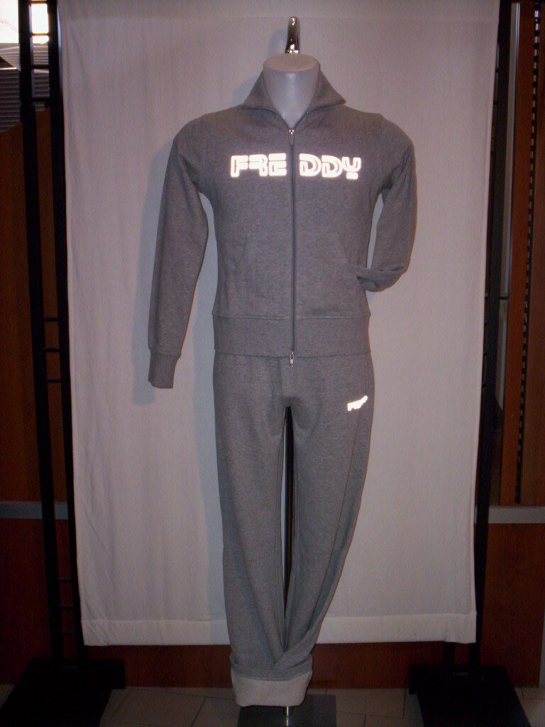 Suit gym sport Freddy woman fitness sweatshirt zip trousers cotton XS SM