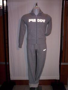 Tuta-ginnastica-sportiva-Freddy-donna-fitness-felpa-zip-pantaloni-cotone-XS-S-M