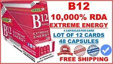 Genuine Stacker 2 B12 Extreme Energy 12cards 48 Capsules