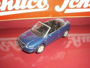 Schuco-Audi-A-4-CABRIO-AZUL-OSCURO-ANTIGUOS-Schuco-SERIE-1-43
